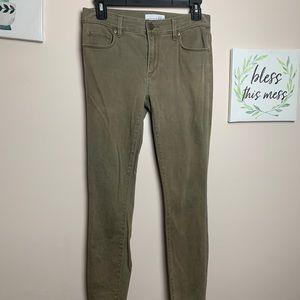 LOFT Stretch Pants - Size 2/26 Olive Green